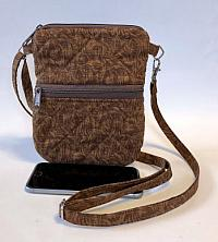 Brown Cell Phone Bag-cell phone bag, brown, festival bag, crossbody strap, crossbody quilted bag for women, bum bag, waist bag, phone bag, quilted purse, purse for women, thin strap purse, womans purse, womans bag