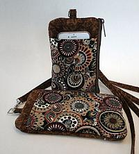 Brown Batik I D Phone Wallet-