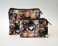 Cat Breed Coin Purses-cats, cat cotton fabric, coin purse, coin pouch, zipped bag