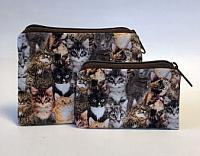 Cat Breed Coin Purses-coin purse, pocket coin purse, cat, cat breeds, cotton, zipped bag, cat breed coin purse, coin pouch, childs coin purse, school money bag, money bag, jewelry bag, jewelry pouch