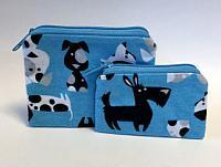 Dog Breed Coin Purses-coin purse, dog breed, comic dog, blue, zipped bag, dog breed coin purses, blue coin purse, coin purse set, novelty coin purse, dog novelty purse, school money bag, money bag, treasure bag