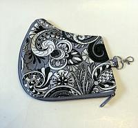 Gray Paisley Mask Case-gray, mask case, paisley, cotton