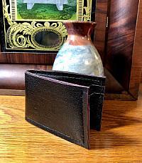 Black Faux Leather Wallet-wallet, mans wallet, black, faux leather, faux leather wallet, stitched mans wallet, black wallet, black mans wallet, handmade wallet, minimalist wallet, thin mans wallet, black faux leather, thin wallet