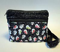 Snowman Winter Purse-snowman purse, small purse, fabric purse, flat bottom bag, small bag, winter small purse, snowman fabric bag, quilted womans crossbody bag, quilted purse, novelty purse, novelty fabric, gray purse, gray bag