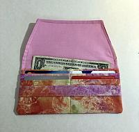 Tie Dye Woman's Wallet-womans wallet, tie dye fabric, pink, slim wallet, minimalist wallet, fabric wallet, credit card pocket wallet, cash pocket wallet, pink wallet, womans fabric wallet, womans tie dye wallet, cash wallet, credit card wallet